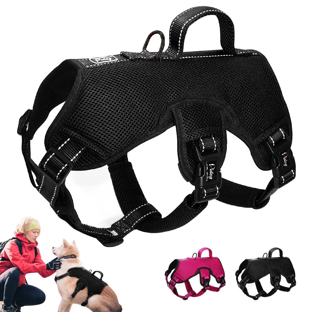Didog Nylon Mesh Dog Harness Reflective Quick Control Medium Large Big Dogs Sport Lift Harnesses For Training Pet Vest M L