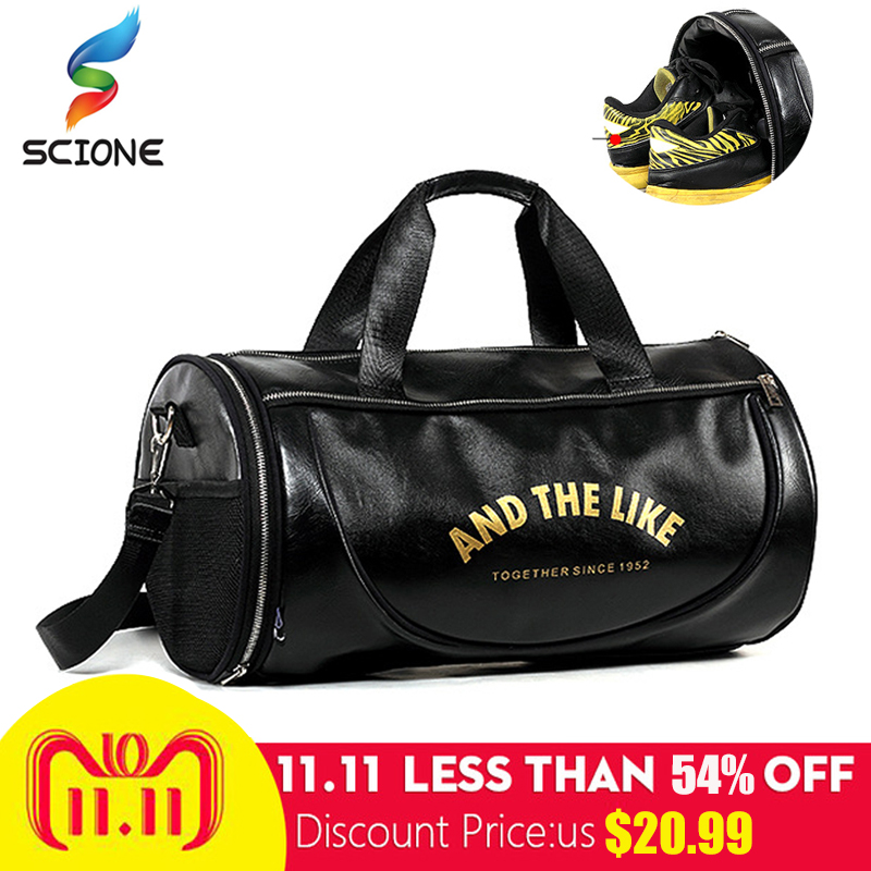 Top PU Outdoor Sports Gym Bag Men Women with Shoes Storage Training Fitness  Multifunction Shoulder Bags Travel Yoga HandBag ddc257f6add87