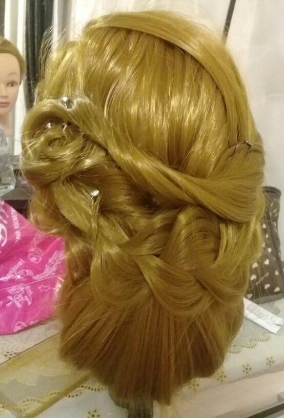 CAMMITEVER 20 tums hårstyling mannequin huvud frisyrer långt hår - Konst, hantverk och sömnad - Foto 2
