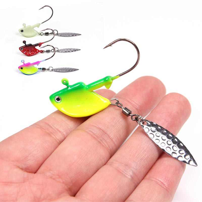 Fishing Barbed Collar 2g//4g Lead Head Jig Hook with Sequin Carp P0J7 H5Z0