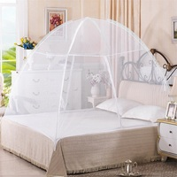 Portable Folding Anti Zipper Bed Mosquito Net Foldable No Deformation Double Door Zipper Design White Bed Canopy HW58526