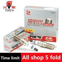 4pcs Lot China Original TORCH Double Iridium Spark Plugs QH6II For MAZD2 MAZD3 MAZD5 MAZD6 CX
