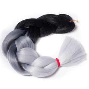Qp hair synthetic Hair Extensions Ombre Braiding Hair One Piece 100g/Pack 24Inch Afro Bulk Hair Jumbo Crotchet Braids