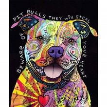 Color dog diamond Embroidery diy painting mosaic diamant 3d cross stitch pictures H702