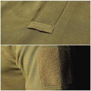 Image 3 - MEGE Dropshipping Men Polo Shirt Summer Tactical Air Force Casual Military Army short Shirt tee polos para hombre camisa polo