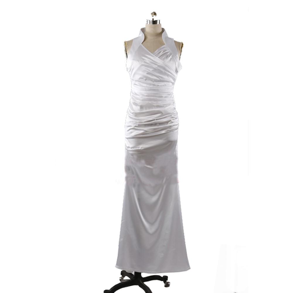 2017 Final Fantasy XV Costume Cosplay Lunafreya Nox Fleuret White Long Dress Halloween Girl Customize Adult Women