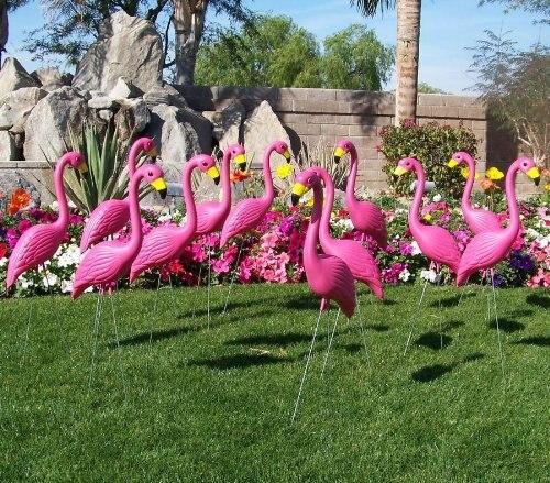 2 X Large Pink Flamingo 3 Dimensional Yard Ornaments On Aliexpress Alibaba Group