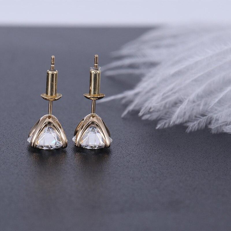 Transgems 14 K 585 Gelb Gold 2CTW 6,5mm Moissanite Diamant Stud Ohrring Push Zurück Ohrringe Für Frauen Hochzeit Schmuck-in Ohrringe aus Schmuck und Accessoires bei  Gruppe 2