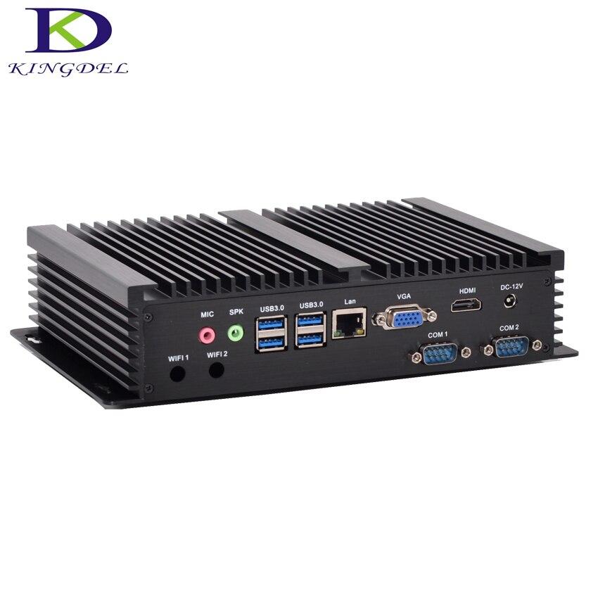 Mini PC industriel sans ventilateur Windows 10 boîtier en aluminium robuste ITX Intel Core i3 4010u HTPC TV Box RS232 WiFi USB VGA mince Client PC