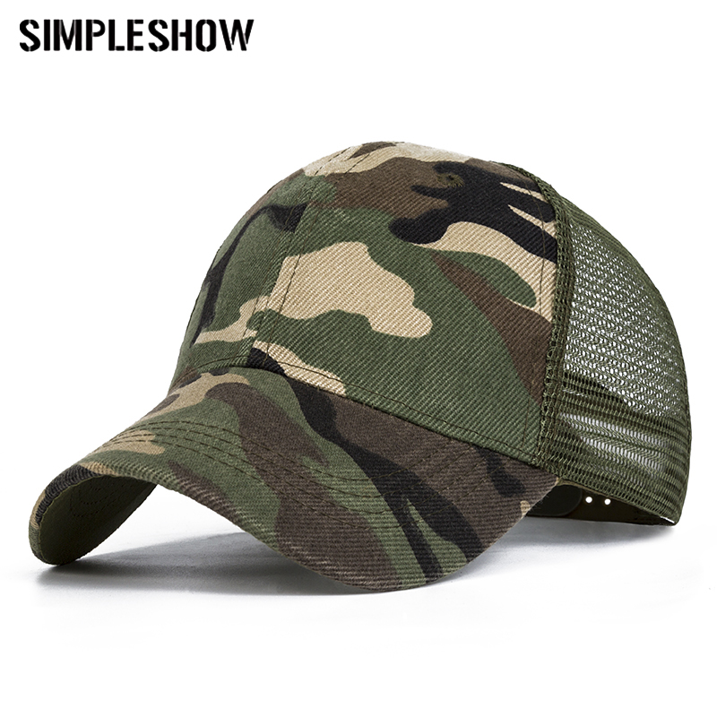 2018 Snow Camo Baseball Caps Men Summer Mesh Cap Tactical Camouflage Hat For Men Women High Quality Bone Masculino Dad Hat Caps 1