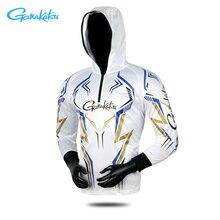 Gamakatsu летняя Новинка Защита от солнца рыболовная рубашка с защитой от ультрафиолета Толстовка для рыбалки дышащая Спортивная уличная противомоскитная походная рубашка