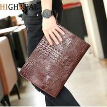 HIGHREAL Fashion Crocodile Women's Cutch Bag Pu Leather Women Envelope Evening Bag New Female Clutches Handbag bolsa feminina