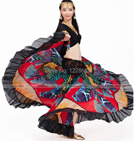 Newest Belly Dance Wear Clothes Gypsy Style Two Pieces Top&Long Skirt Women Bellydance Wear
