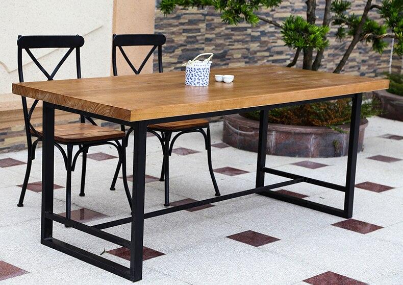 Eropa Tinggi Kelas Kayu Solid Meja Makan Dan Kursi Meja