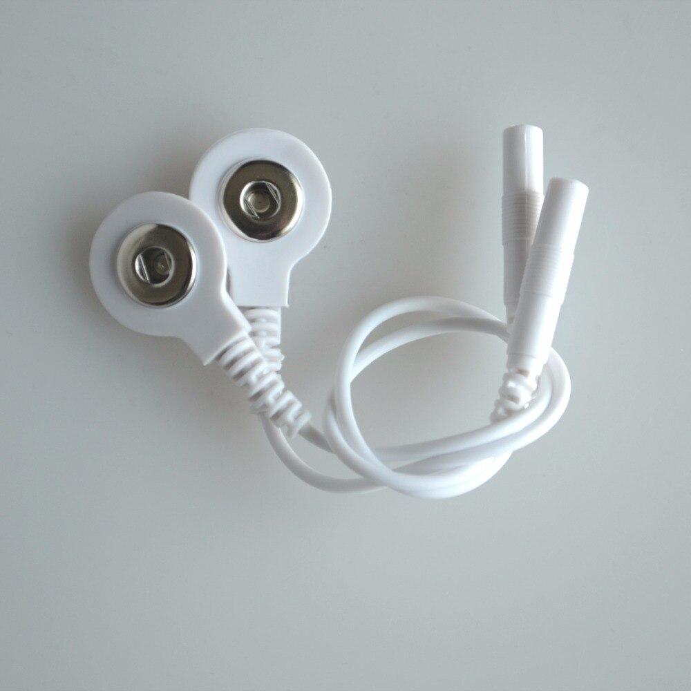 100 par/lote 3,5mm decenas de electrodo Cables de conexión enchufe 2,5mm uso para conectar decenas/EMS de masajeador de dispositivo-in Masaje y relajación from Belleza y salud    2