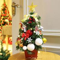 Artificial Christmas Tree Decorations For Home Artificial Christmas Tree Figurine New Year 2018 Party Home Decor
