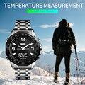 Роскошные спортивные часы для мужчин калорий Шагомер Секундомер наручные часы водонепроницаемые военные часы компас термометр цифровые ч...