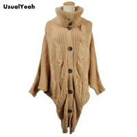 2012 Winter Women S Fashion Batwing Sleeve Long Knitted Turtleneck Sweater Dress Cardigan Overcoat Free Shipping