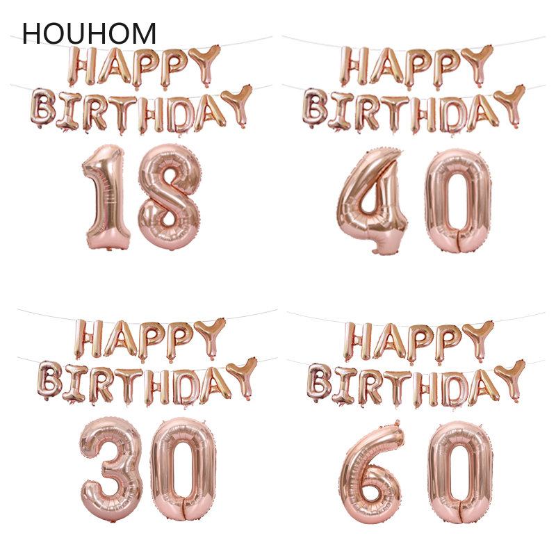 New 60 50 30 <font><b>18</b></font> <font><b>Years</b></font> Old <font><b>Birthday</b></font> Balloon Letter Number Inflatable Baloon <font><b>Birthday</b></font> Party Decoration Adult <font><b>Happy</b></font> <font><b>Birthday</b></font> Ballon image