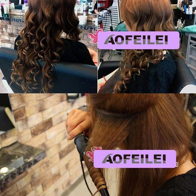 Купить с кэшбэком Ceramic Styling Tools professional Hair Curling Iron Hair waver Pear Flower Cone Electric Hair Curler Roller Curling Wand