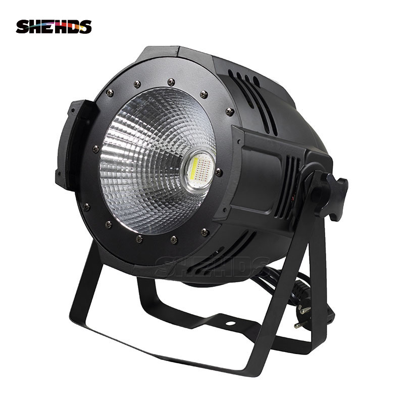 2pcs Led COB Blinder 100W Par Light RGBWA+UV 6in1 With DMX512 Controller Professional Stage Lighting for Quiet Theater Show Club rasha brand 2 100w 2in1 cob ww cw led blinder light stage audience studio blinder light theater light