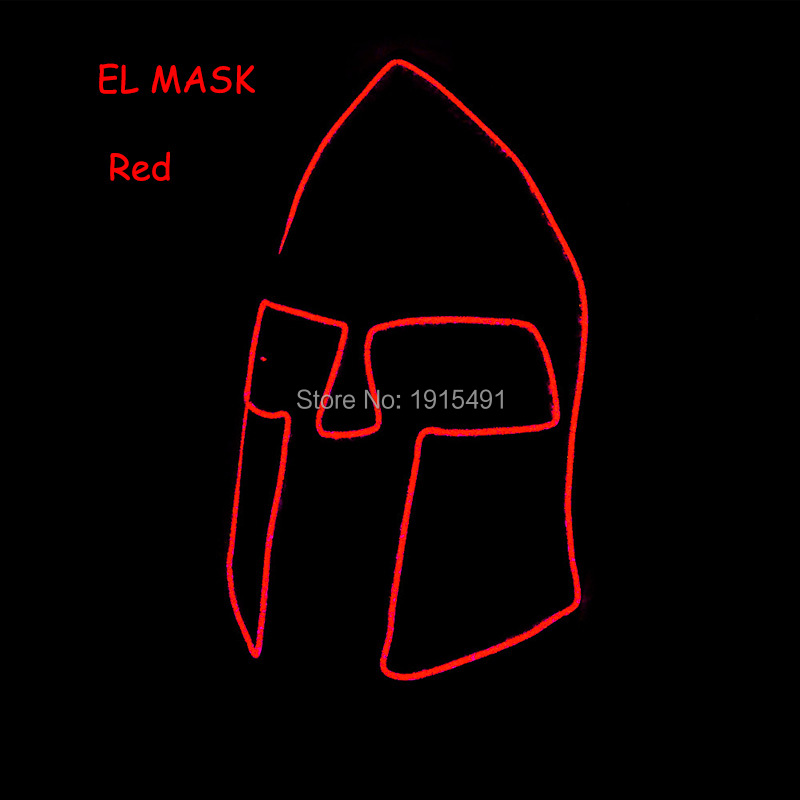 Hot Sale 10PCS EL Cold Light Blinking Halloween Mask Holiday Lighting Luminous Birthday Party Decorations Kids Mask by 3V