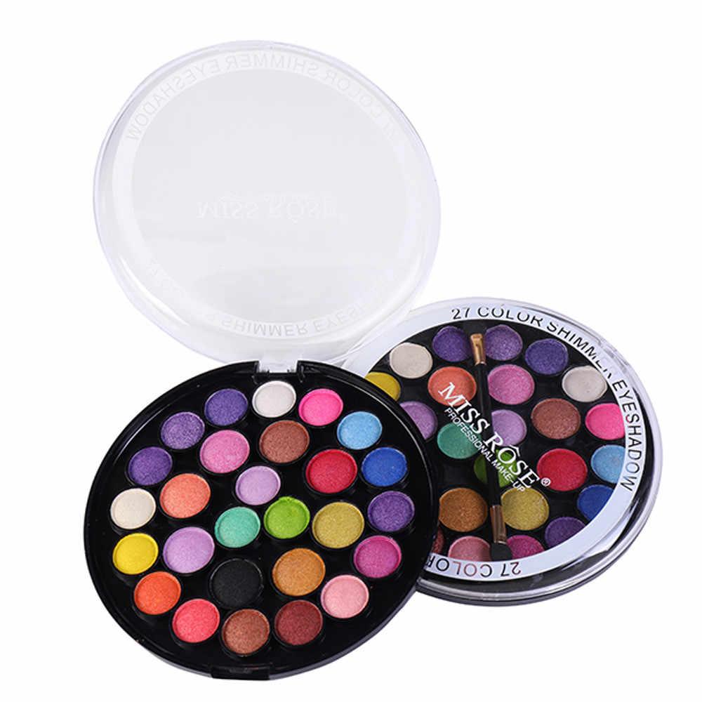 MISS ROSE ombre à paupières 27 couleur paillettes crème maquillage imperméable égayer fard à paupières cosmétique professionnel femmes maquillage May30