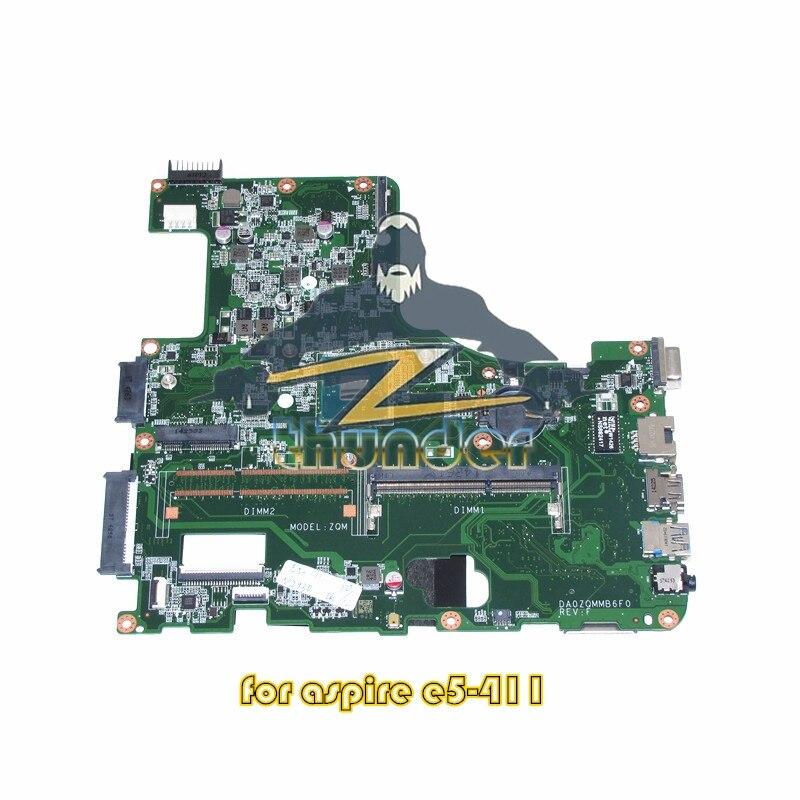 DA0ZQMMB6F0 For Acer Asipre E5-411 Laptop Motherboard SR1W3 N2930 CPU Onboard DDR3L