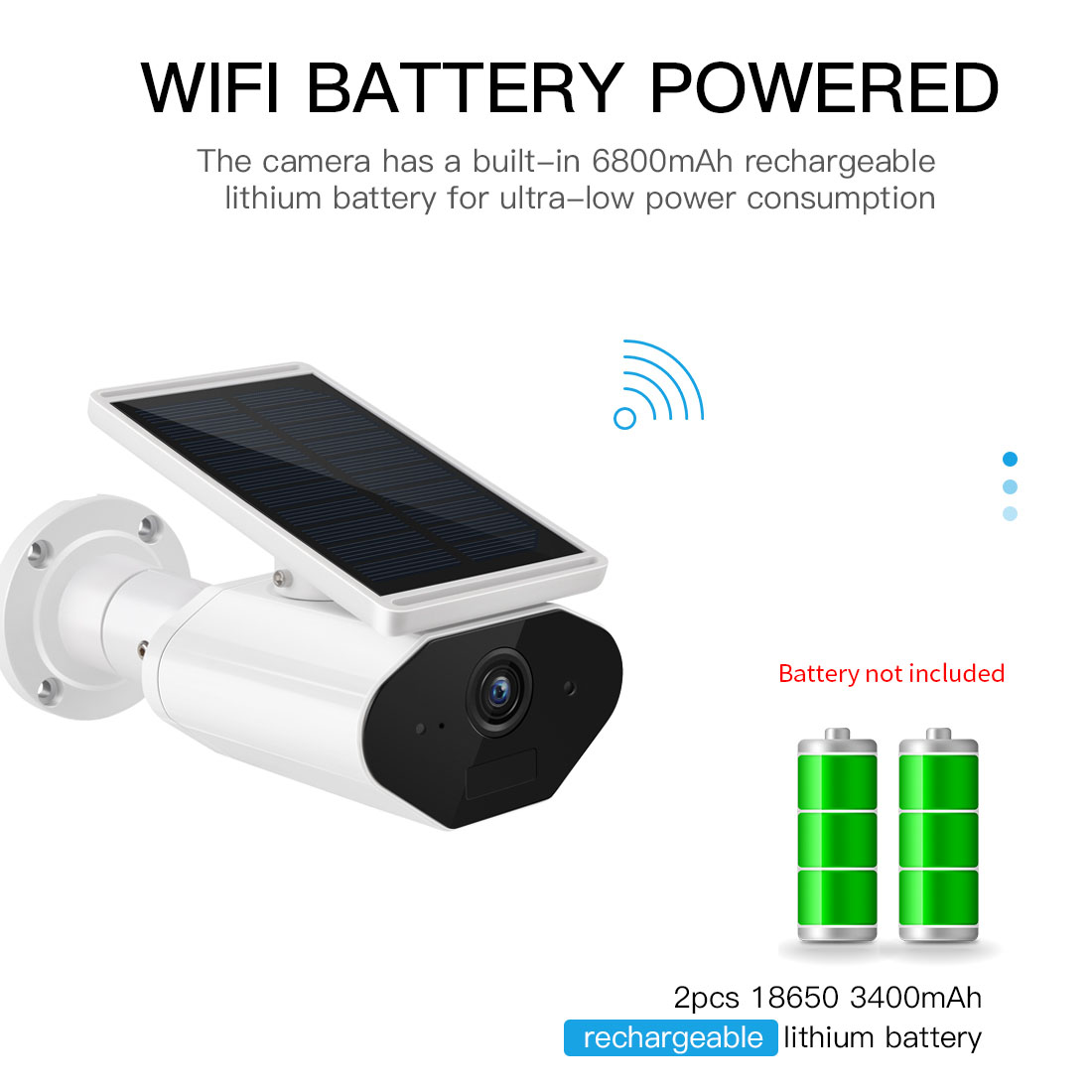 Image 3 - FREDI 1080P Solar Low Power Wireless IP Camera WiFi Waterproof Security Bullet Camera IR Night Vision Surveillance CCTV Camera-in Surveillance Cameras from Security & Protection