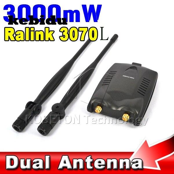 Kebidu MW PC Sans Fil Point Daccès Usb Wifi Adaptateur Longue - Antenne wifi usb longue portée