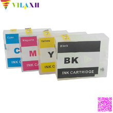 Vilaxh 1Set PGI 1500 PGI-1500xl pgi 1400 Empty refillable ink cartridge For Canon for canon Pixma MB2350 MB2050 Europe