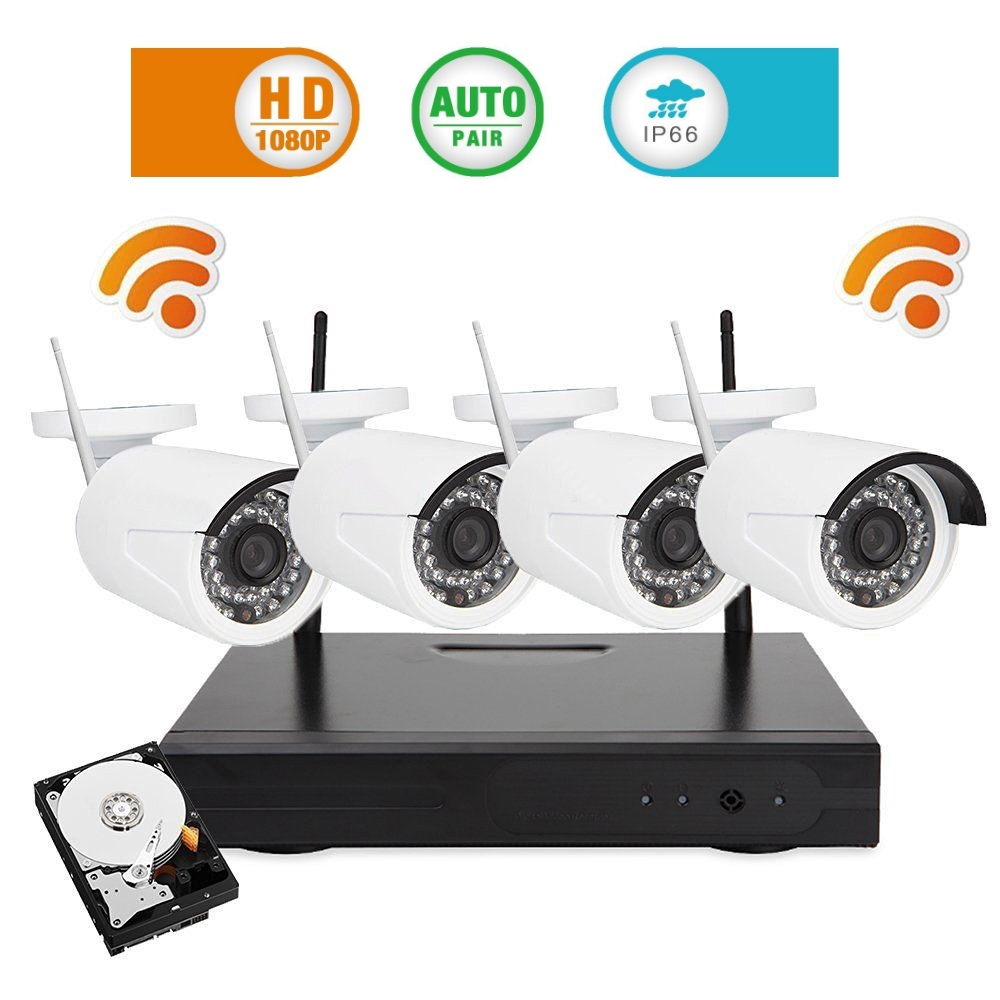 4CH Wireless 1080P NVR Kit Plug and Play 960P HD Outdoor Night Vision Security Camera IP WIFI Surveillance CCTV System +1TB HDD anran plug play 1080p 4ch hd wifi nvr 36ir indoor outdoor network ip wireless camera surveillance cctv security systems