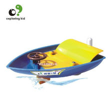 Candice guo plastic toy exploring kid creat science scientific experiment game model Jetfoil Jet funny boat ship birthday gift