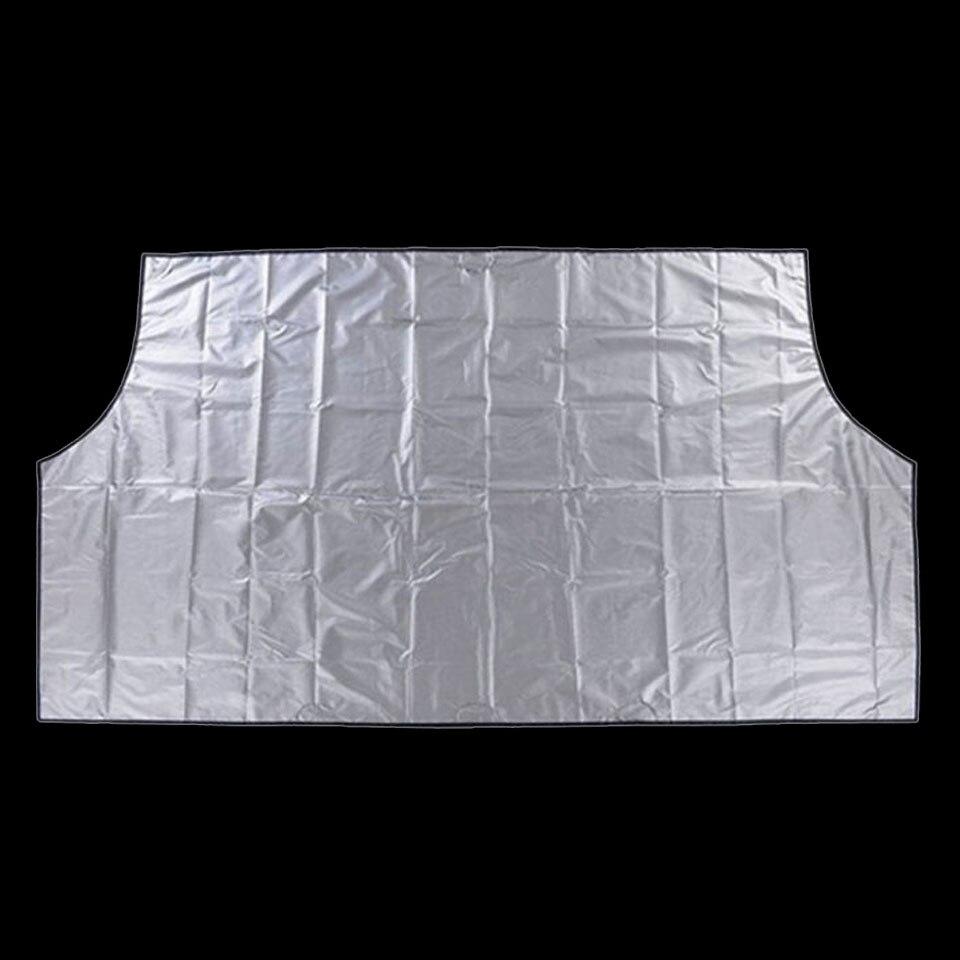 Imán coche parabrisas cubierta de nieve cubierta sombrilla nieve hielo Frost Protector parabrisas plata negro cubierta
