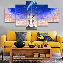 Your Name animation 5 Piece HD Print Wall Art Canvas For Living Room Decor Painting Modern Artwork