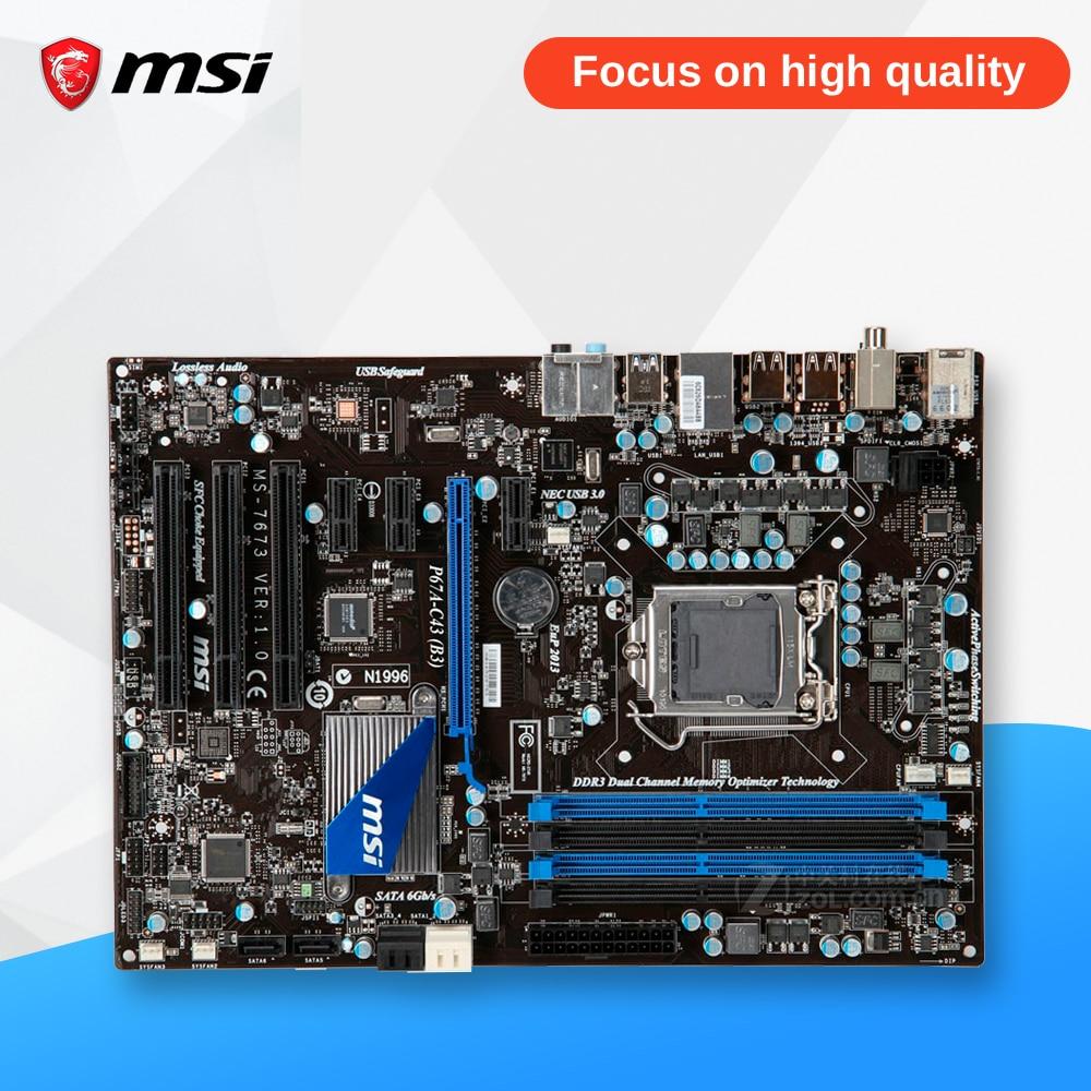 MSI P67A-C43(B3) Original Used Desktop Motherboard P67 Socket LGA 1155 i3 i5 i7 DDR3 32G SATA3 USB3.0 ATX msi ph67a c43 original used desktop motherboard h67 socket lga 1155 i3 i5 i7 ddr3 32g sata3 usb3 0 atx