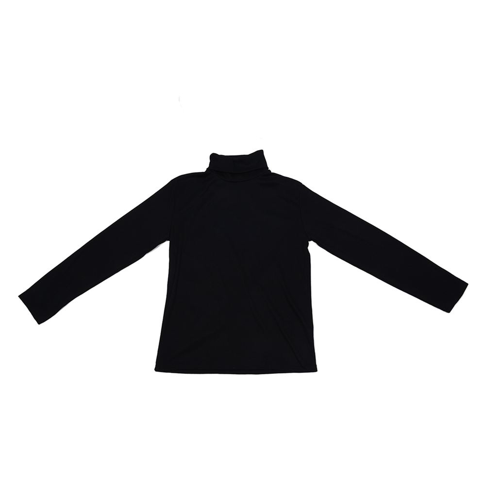 Turtleneck Sweater Shirt Solid Pattern Pullover