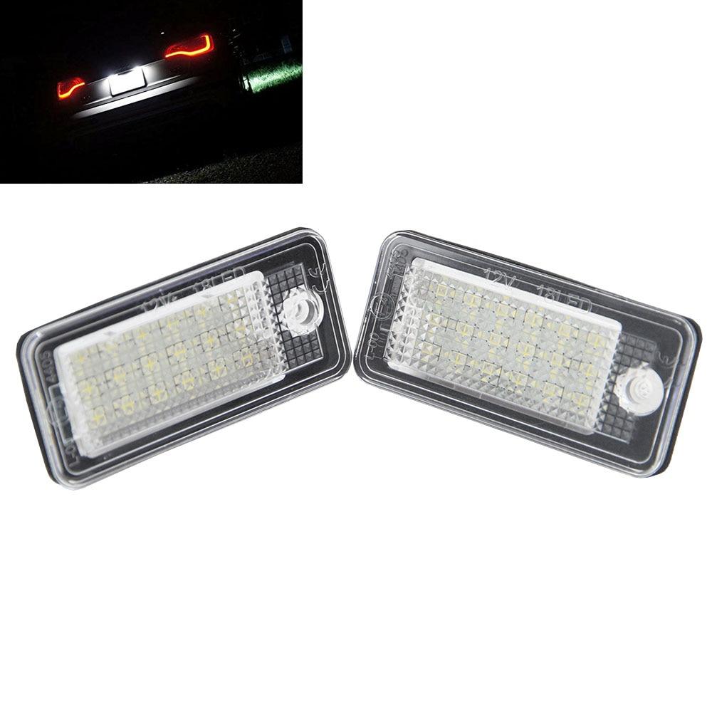 Задний вело фонарь освещения номерного знака для Ауди А3/С3/А4/С4 В6/В7 С4/А6/С6 С6/А8/С8/В7/модель RS4/RS6 на плюс/вант 18SMD LED авто Лампа лицензии свет