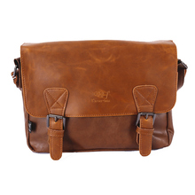 YGDB Men Vintage PU Leather Handbag Satchel School Shoulder Messenger Crossbody Bag Male Bolsas Luxury Casual Travel Bags 3539
