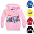 Os trolls das crianças dos desenhos animados hoodies & camisolas meninos/meninas algodão topwear crianças outerwear crianças manga longa clothing (3-7a) h527