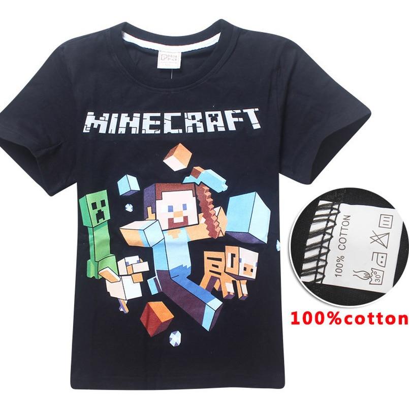 cf8e6d9a42 Minecraft póló nyári felső gyerek ruhák bobo choses vicces pólók ...