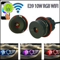 1 Par RGB WIFI E39 20 W XML LED Angel Eyes para BMW 1/5/6/7 serie X3 X5 coches