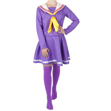 Anime NO GAME LIFE Cosplay Costumes  Sailor suit uniform College European size Free Shipping