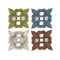 Contemporary Styled Mirror wall decor 4 Assorted