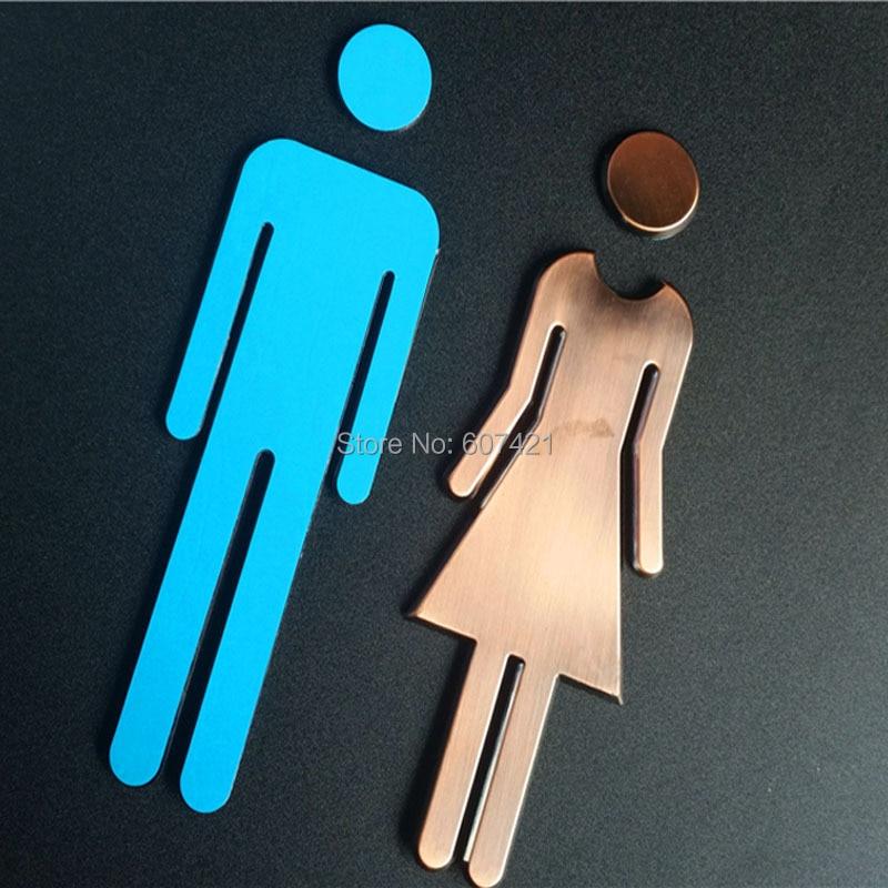 78inch Adhesive Backed Modern Acrylic Bathroom Sign Symbol Sign Men