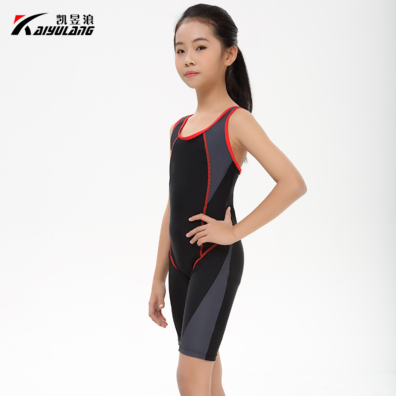 2017 new girls Surfing series of sport one piece swimsuit ...