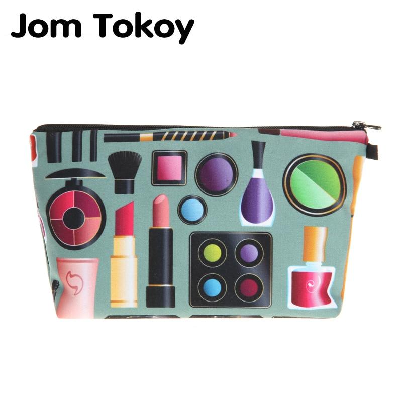 3D Printing makeup bag Jom Tokoy cosmetic organizer bag 2018 Fashion Women Brand Cosmetic Bag who cares tropic hawaii with flamingo 3d printing cosmetic bag women fashion brand organizer neceser maquillaje girls makeup bag