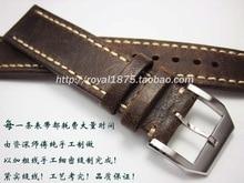 купить New 20 21 22 mm Handmade high quality Classical Genuine Leather Watchband  watch accessories watch Straps Vintage Watch Bracelet по цене 1406.18 рублей