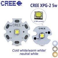 10 шт. Cree XPG2 XP-G2 поколений светодио дный 3 Вт 5 Вт 3535 SMD светодио дный лампы 6500 К 4500 К 3000 К 20/16/14/12/10/8 мм печатной платы/проектор