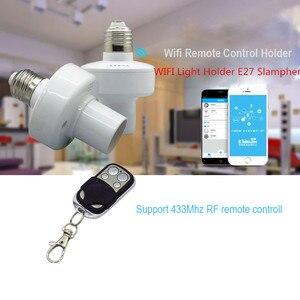 Image 3 - Sonoff Slampher E27 حامل مصباح عالمي واي فاي Slampher RF 433mhz اللاسلكية التحكم عن بعد لمبة حامل للمنزل الذكي على الهاتف المحمول